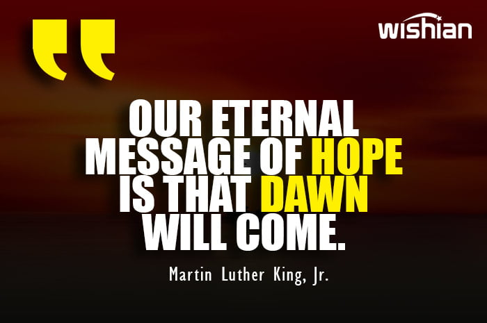 Optimistic Dawn Quotes by Martin Luther King Jr