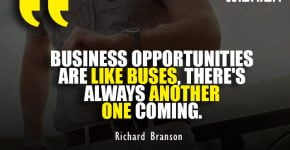 Short Business Opportunity Quotes by Richard Branson