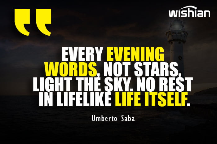 Umberto Saba Quotes about Evening light