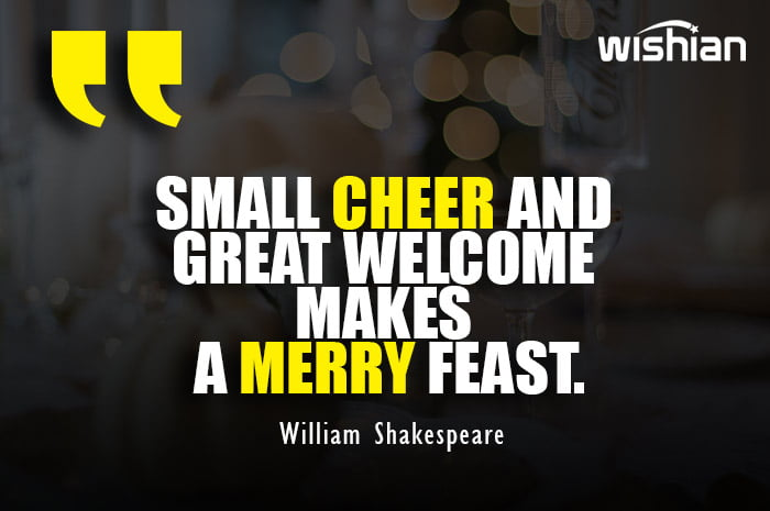William Shakespeare Quotes on Thanksgiving day